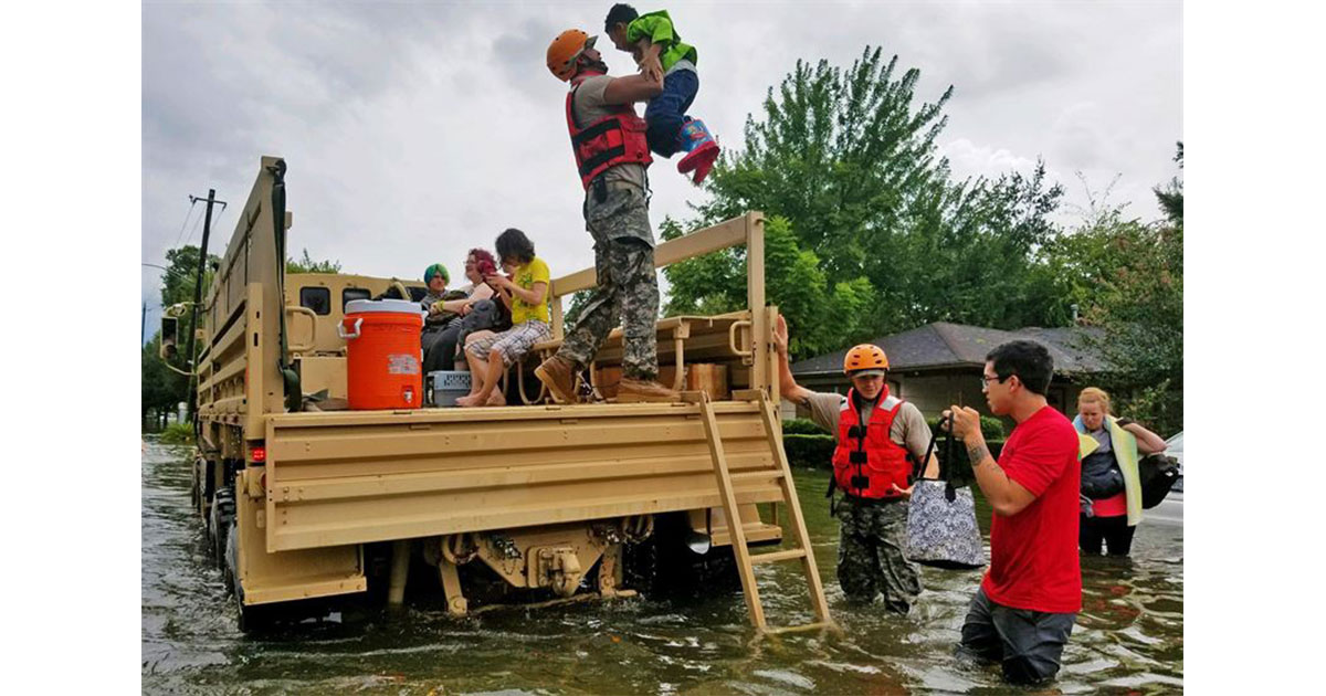 Hurricane Harvey victims rescued by military