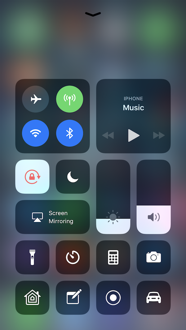 iOS 11 Control Center Overview