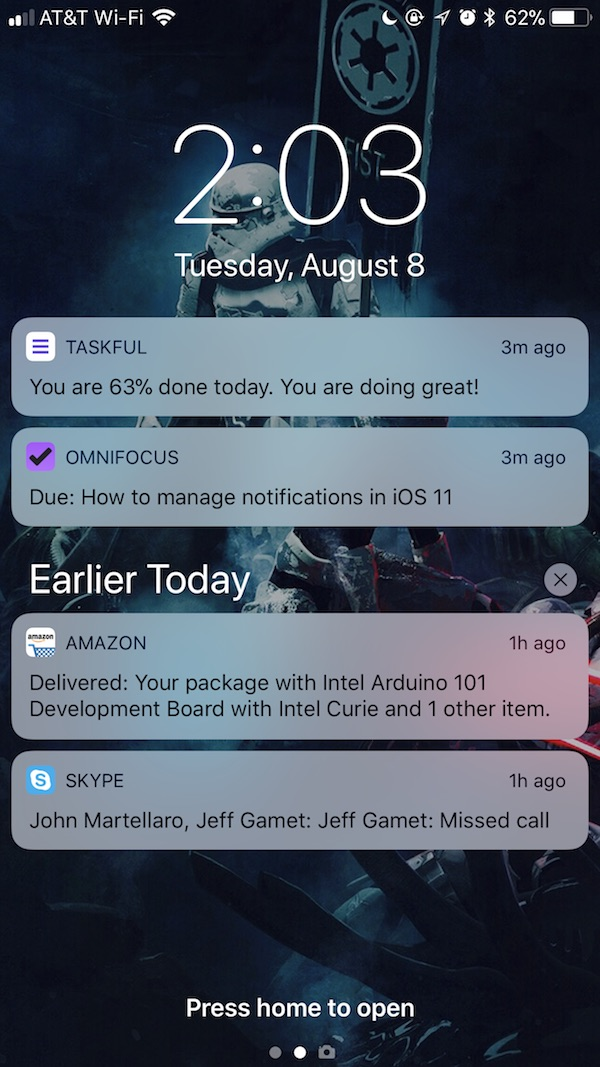 iOS 11 Notification Center - Changing the Clear All feature