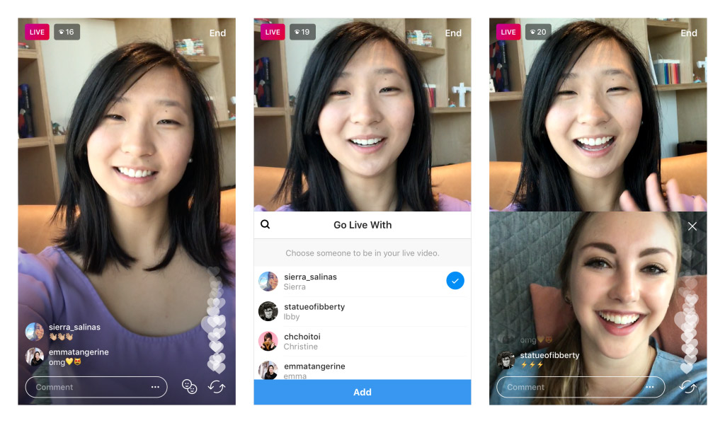 Instagram Testing Live Stories with Friends
