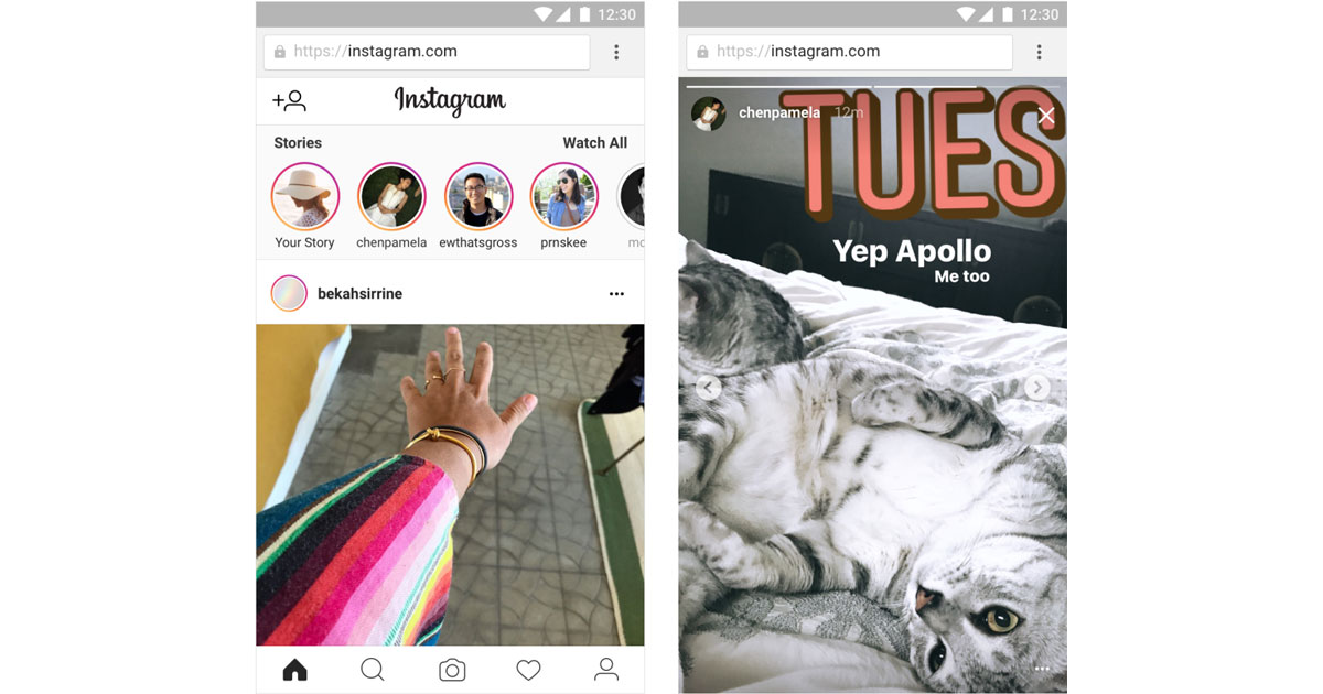 Instagram Stories Now Available on the Web