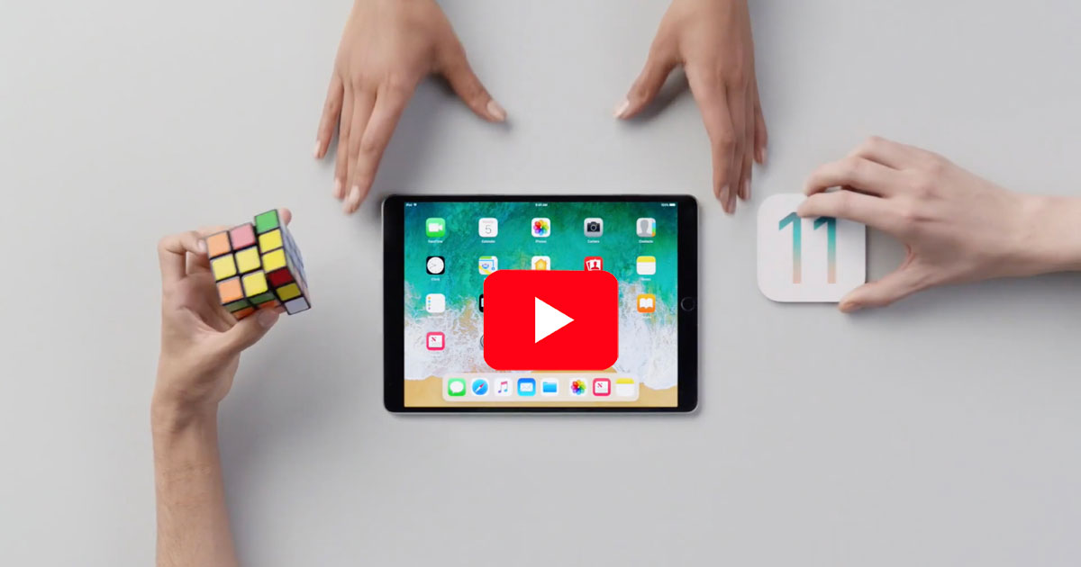 Screenshot from iOS 11 and iPad multitasking video from Apple
