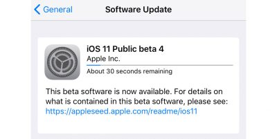 iOS 11 Public Beta 4 install screenshot