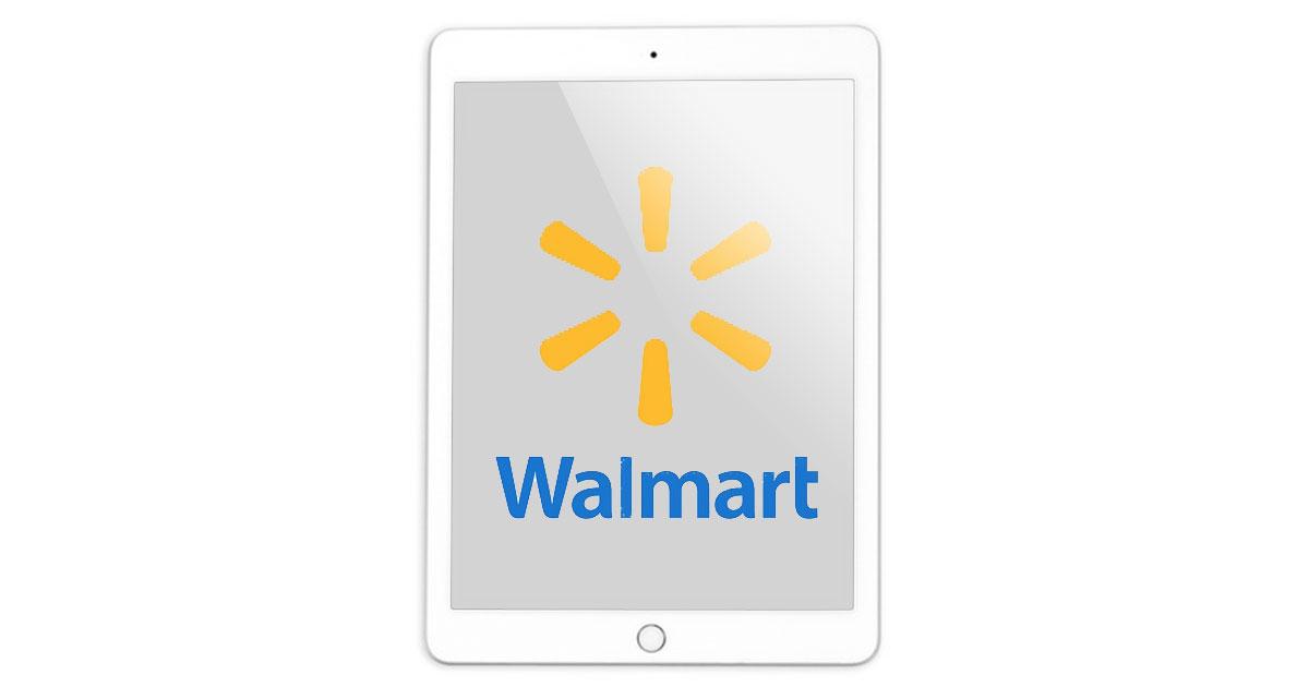 iPad with Walmart logo