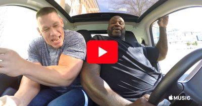 John Cena and The Shaq in Carpool Karaoke