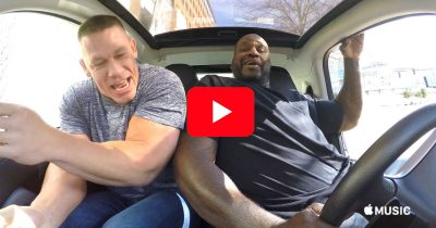 John Cena and The Shaq in Carpool Karaoke