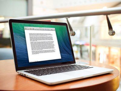 Mariner Write on a MacBook