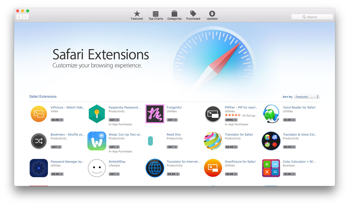Apple Moves Some Safari Extensions to Mac App Store