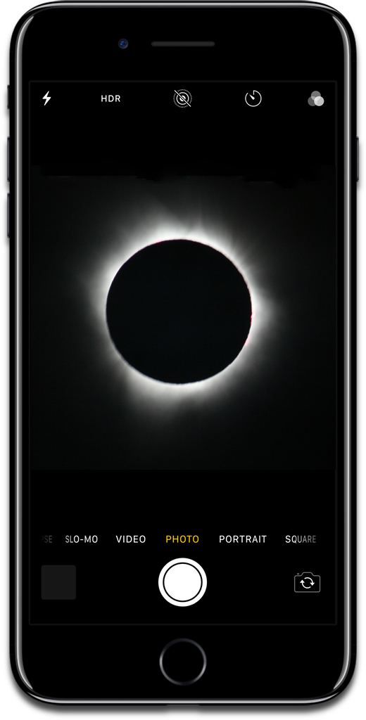 Taking eclipse photos with the iPhone.