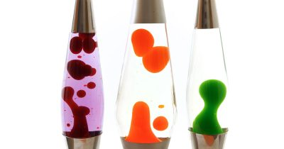 Three Lava Lamps