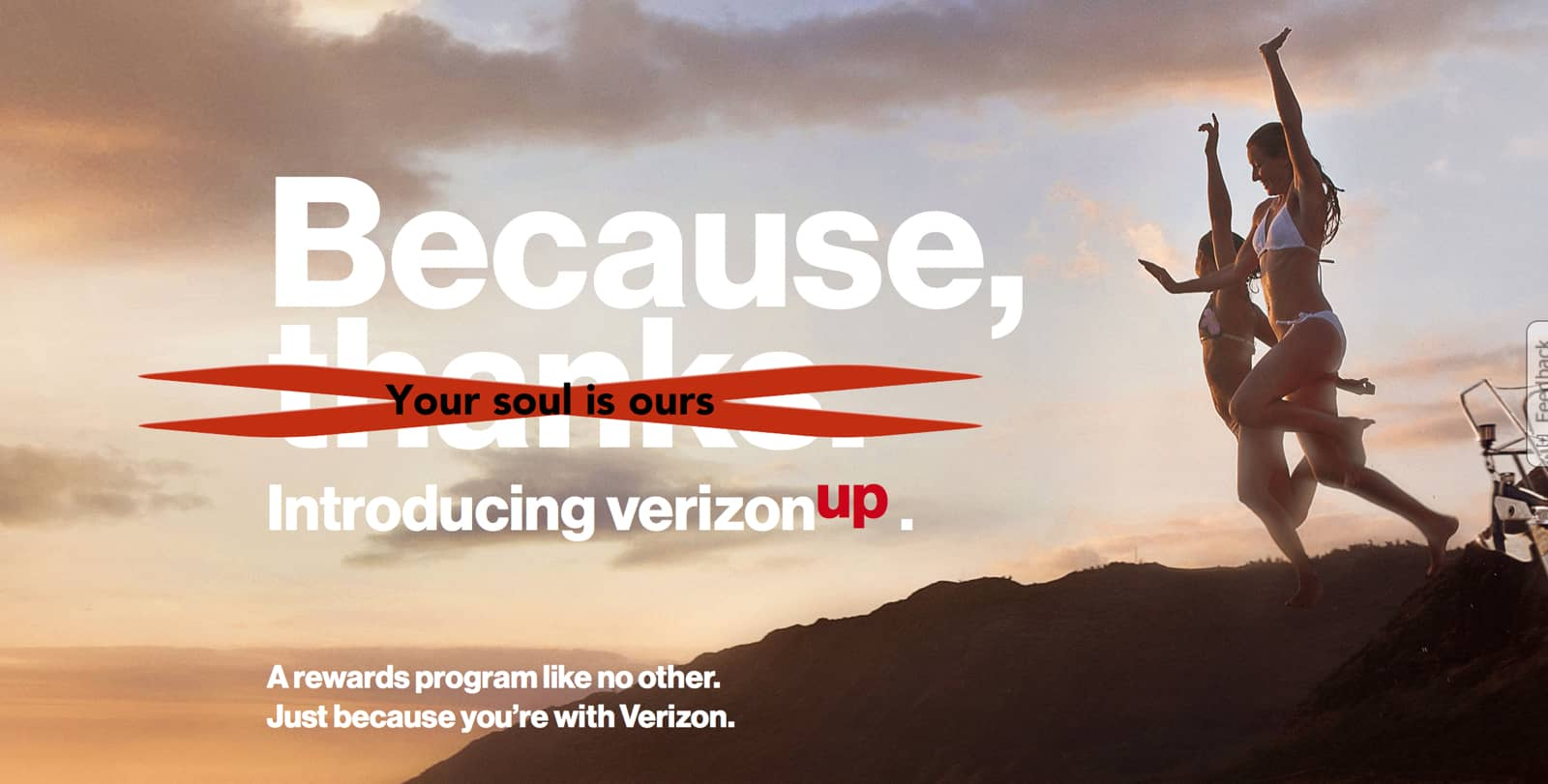 Promotional image of Verizon Up program.