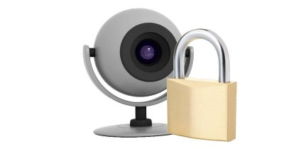 web cam and padlock for Internet of Things security