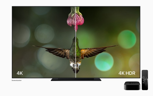 Apple TV 4K showcasing HDR.