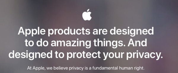 From Apple's privacy page.