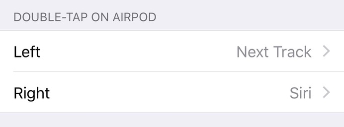 Double-Tap on AirPod Configured