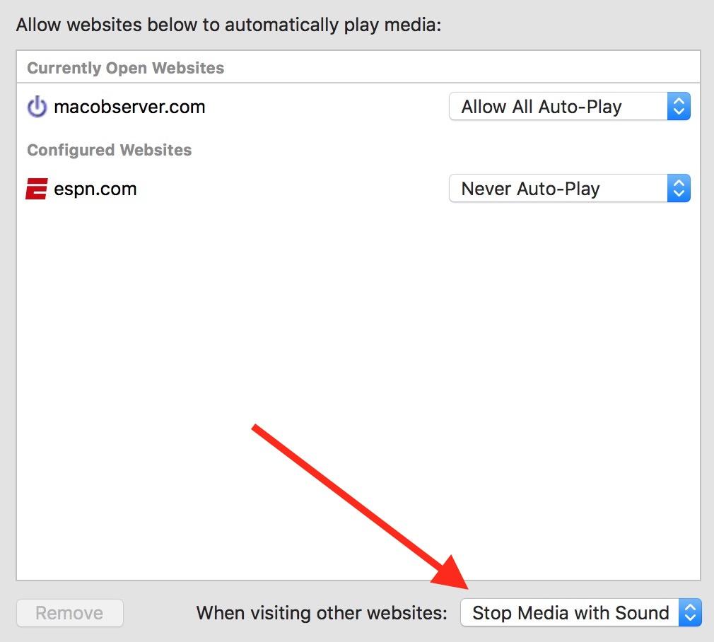 Safari Global Setting for Auto-Play video