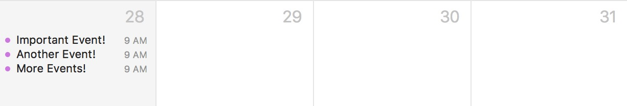 All-Day Events Hidden in macOS Calendar Month View