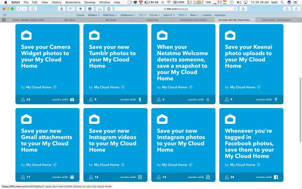 Some IFTTT recipes you can use with My Cloud Home.