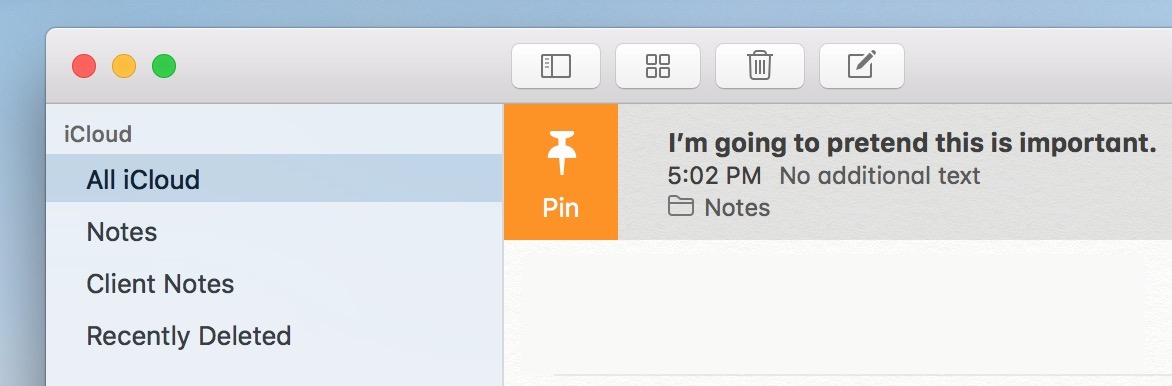 Notes Pin Icon