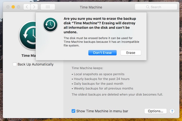 time machine and apfs