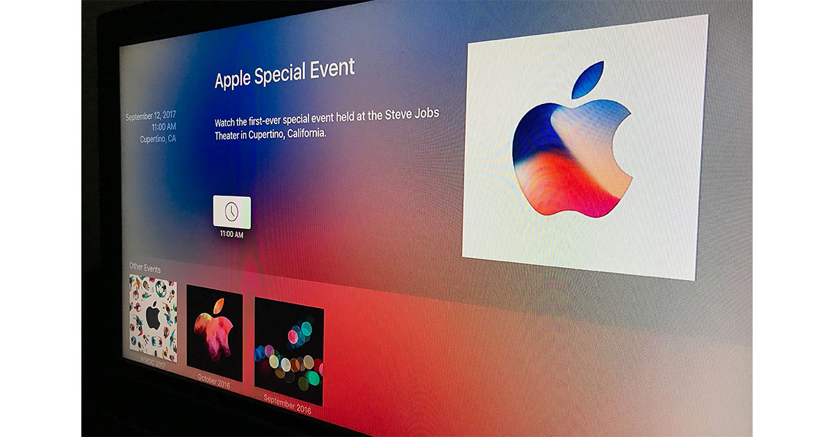 Apple TV special event app