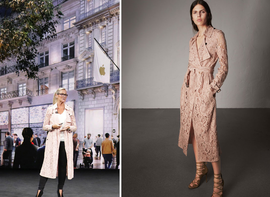 Here's that Burberry Coat Angela Ahrendts Wore at Apple's Media Event