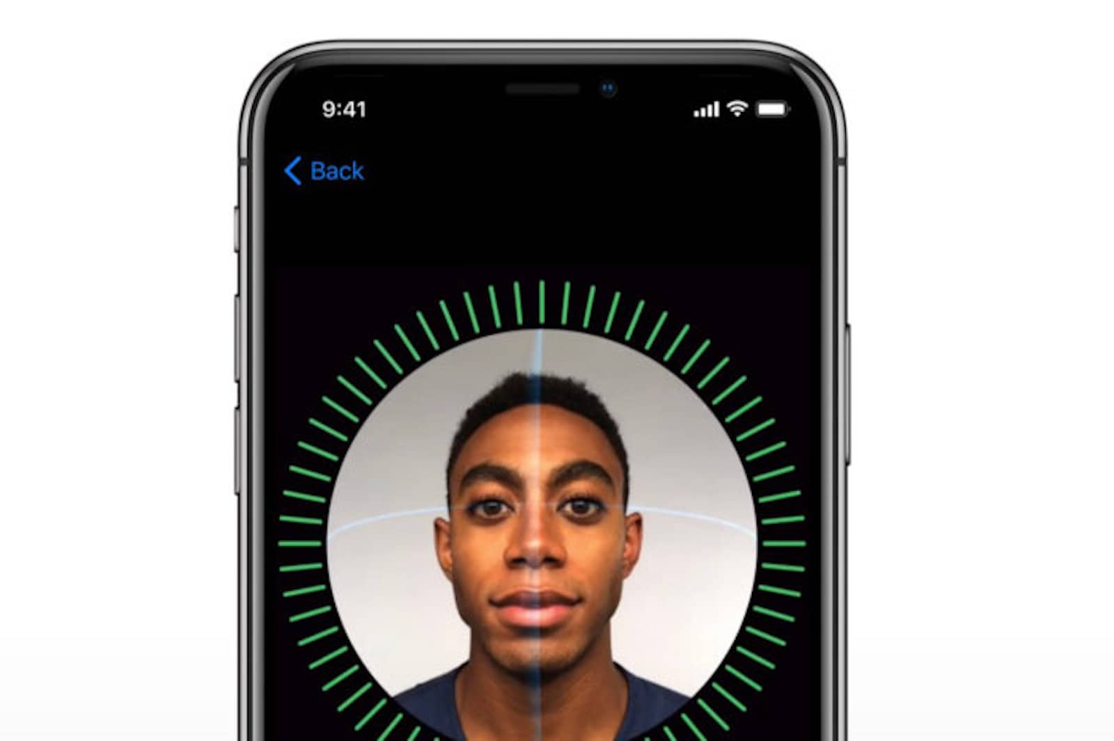 What Face ID security looks like on the iPhone X.