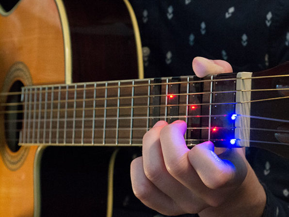 FRETX on Your Guitar Shows You Where to Play