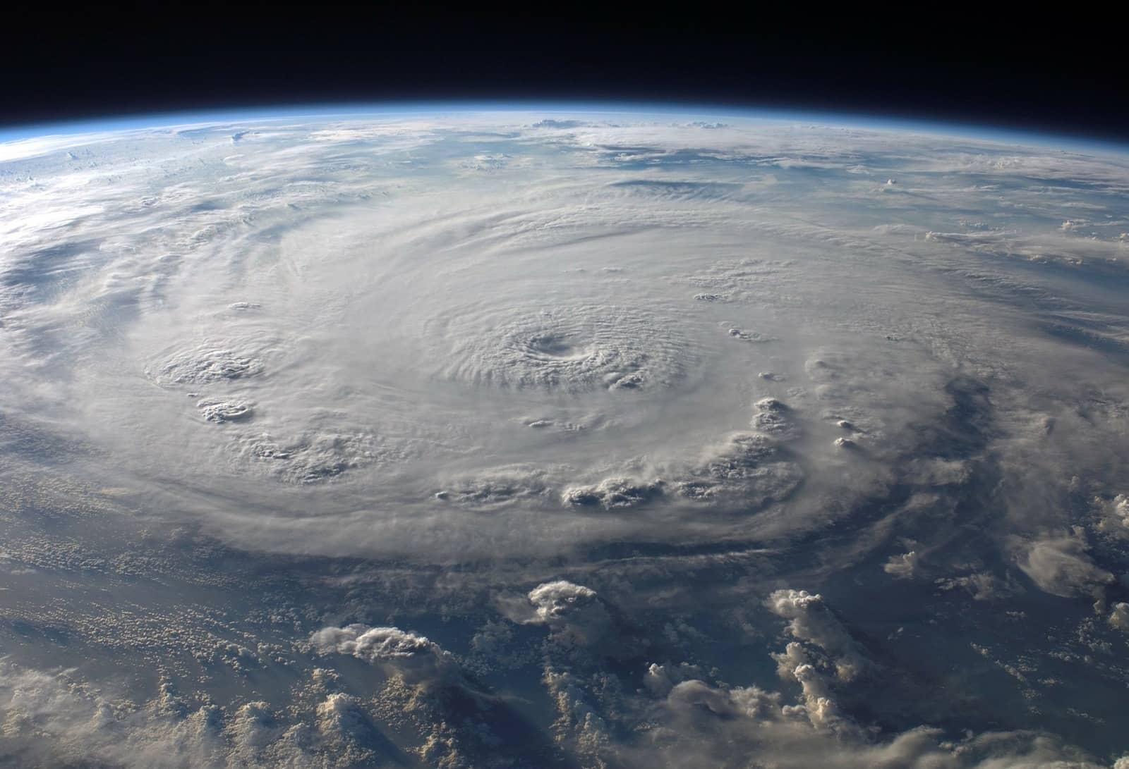 Image of a hurricane. An iPhone FM radio could receive emergency broadcasts during hurricanes.