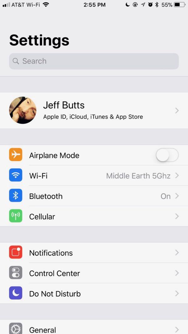 Using iOS 11 Screen Recording - Step 1