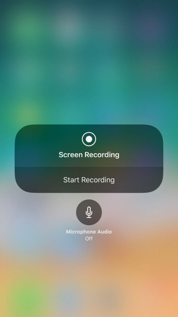 Using iOS 11 Screen Recording - Step 5