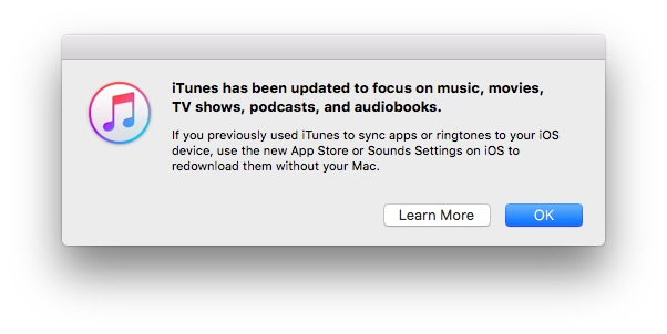 These 44 words mean you can't use your Mac to manage iOS apps or ringtones anymore.
