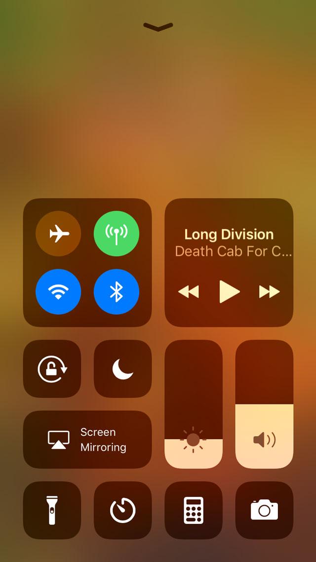 iOS 11 Control Panel