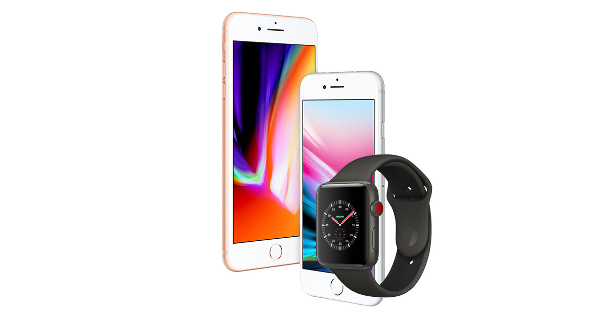 iPhone 8 and Apple Watch Series 3