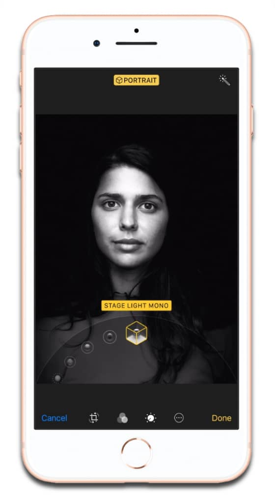 iPhone 8 Portrait Lighting is one of the new iPhone camera features.