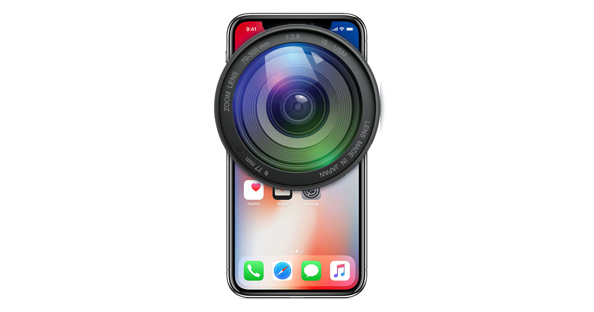 iPhone X with camera lens for HEIF versus JPEG image formats