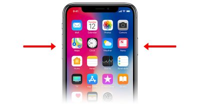 Disable Face ID on iPhone X by gripping the side buttons