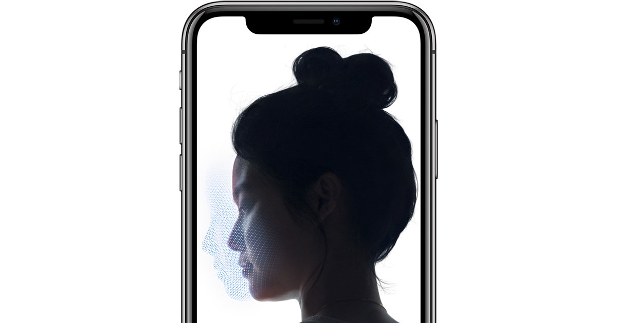 iPhone X Face ID with TrueDepth Camera
