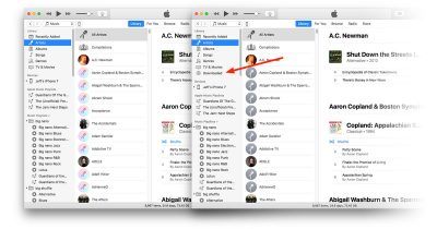 iTunes 12.7 on the Mac