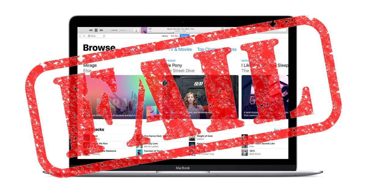 iTunes FAIL