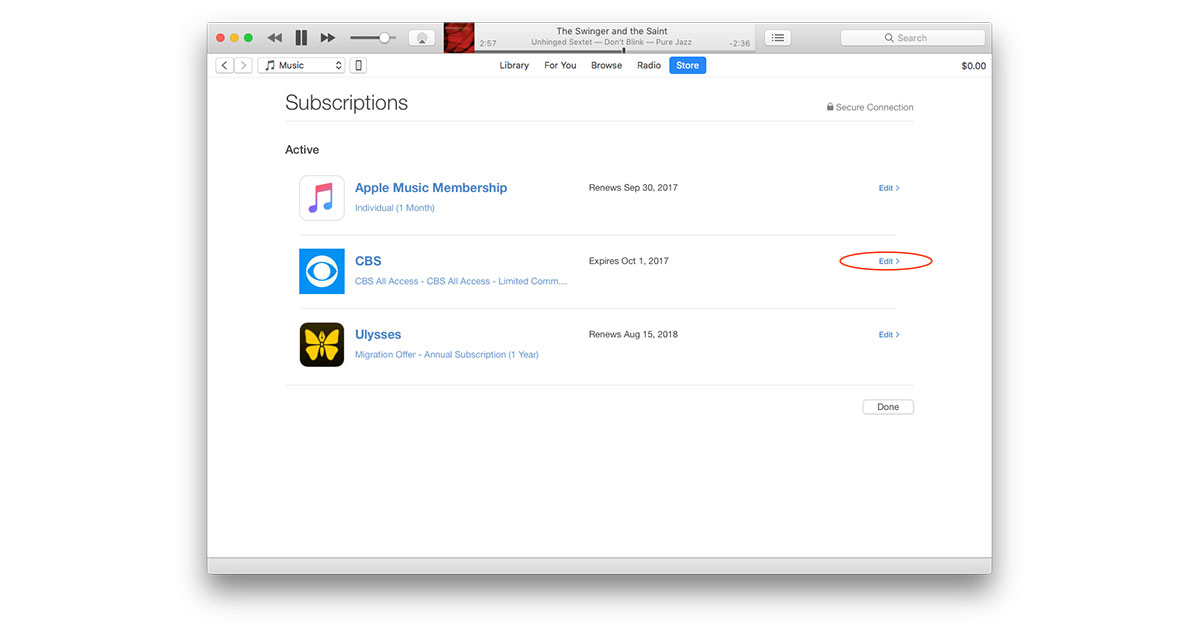 Here's How to Cancel iTunes Subscriptions like CBS All