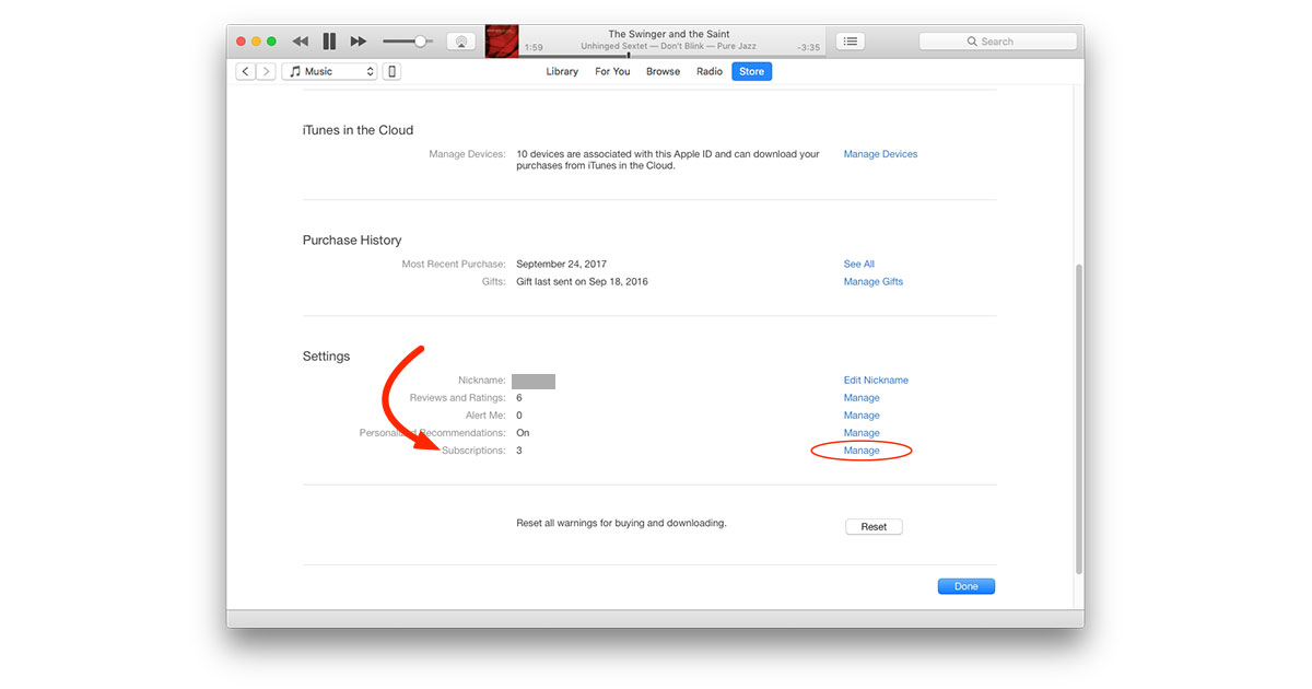 Monthly itunes subscription