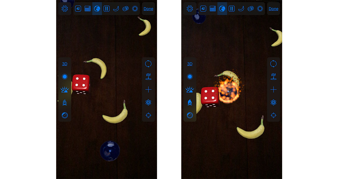 PCalc About Screen on the iPhone using ARKit