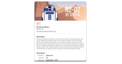 Sphero R2-D2 Swift Playgrounds template