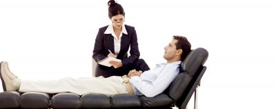 Image of therapist with patient. Maybe Siri therapy could supplement this.