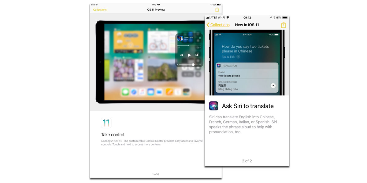 iOS 11 in Apple's Tips app