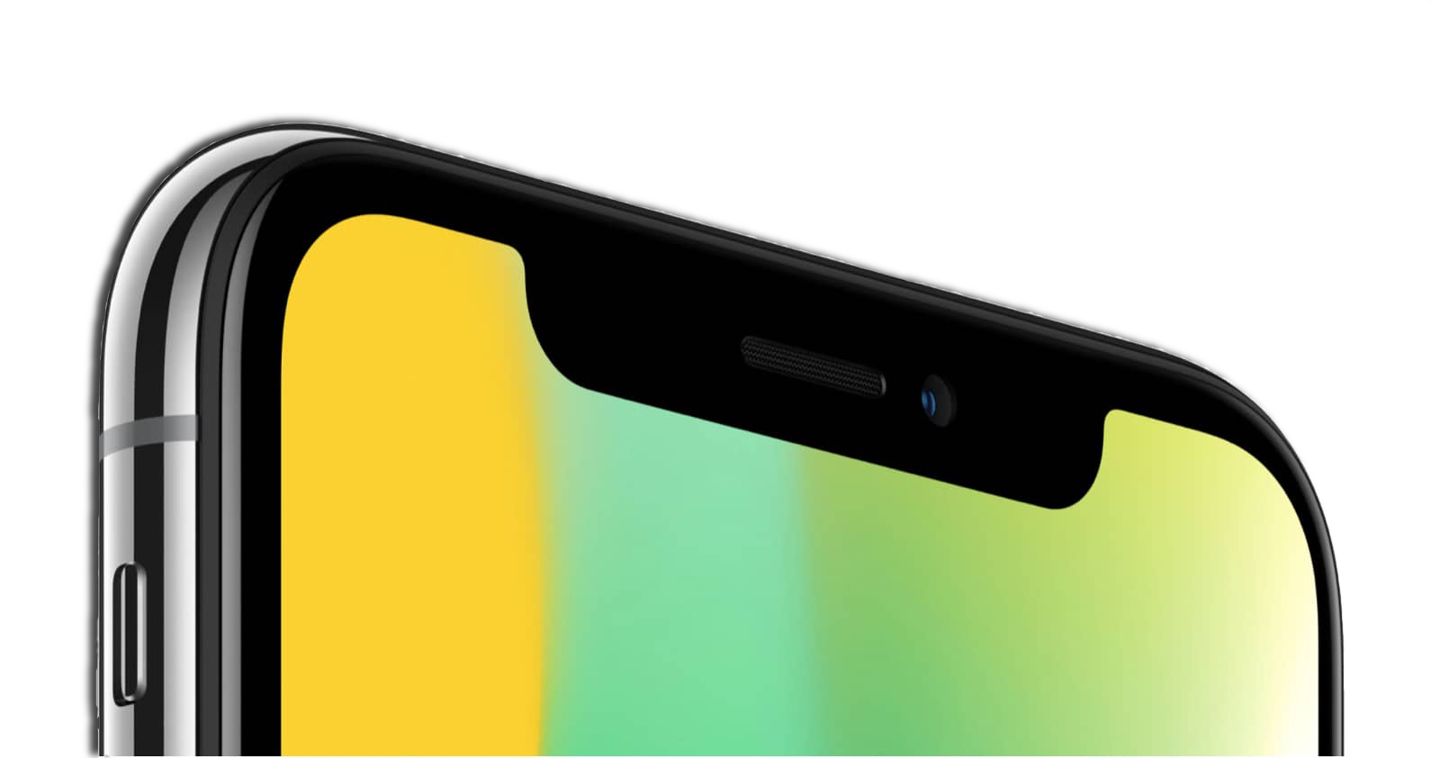 iPhone X TrueDepth front-facing camera, one of the new iPhone camera features.