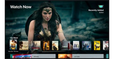 tvOS 11 showing new TV app