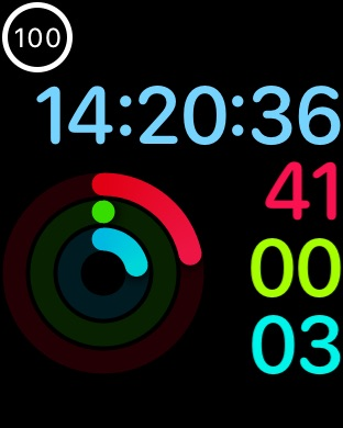 watchOS 4 Activity face.
