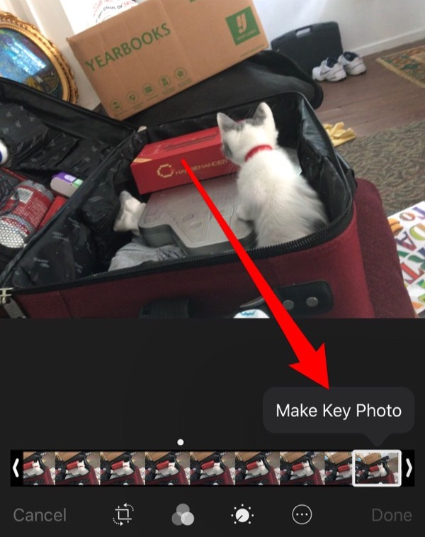 Changing key frames in Live Photos - Step 3
